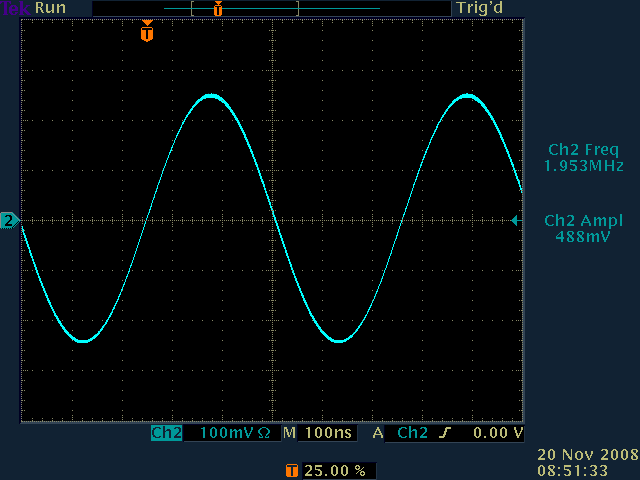 Bunch-by-bunch sinewave drive